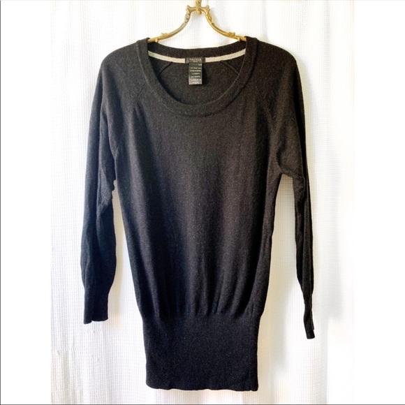 Talula charcoal sweater tunic